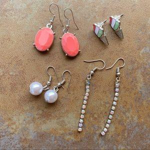Francescas 4 Pairs of Earrings Bundle